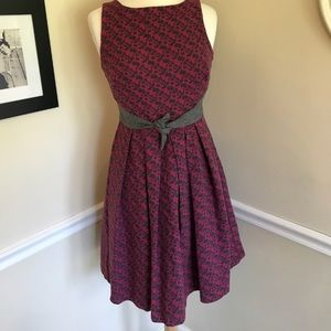 Anthropologie Eva Franco pink and gray wool dress